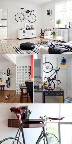 Inspirações e dicas para decorar a casa usando bicicletas! (Clique na imagem)