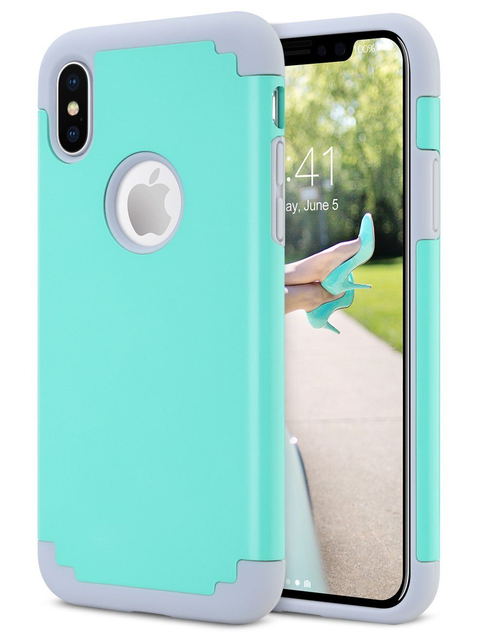 f2ed31297cc0 iPhone X Case Mint Green Cute for Girls