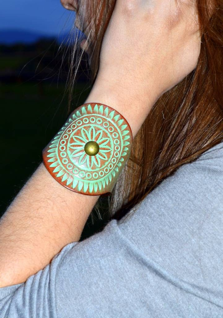 Our beautiful Patina Stamped Cuff Grecian is now On Sale for $30.00 (was $68.00)