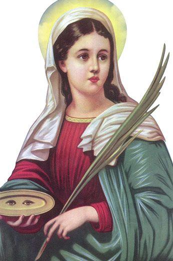 Santa Luzia   História dos Santos   Pinterest   Oração de santa luzia,  Santa luzia e Santos 5c9219c9da
