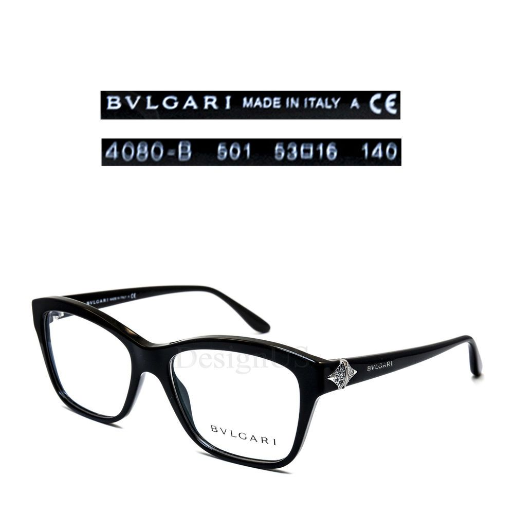 322c4d8c4a38 BVLGARI 4080-B 501 Crystal Eyeglasses Rx Eyewear Made in Italy - New  Authentic