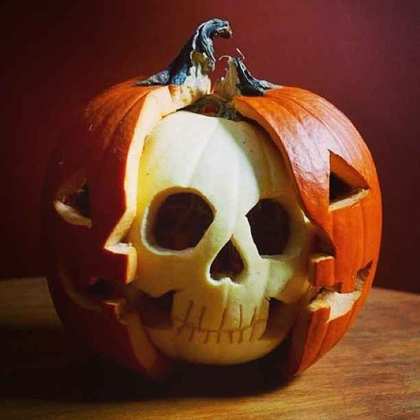 Or A Pumpkin With A Skull Scary Halloween Decorations Diy Diy Halloween Decorations Halloween Jack