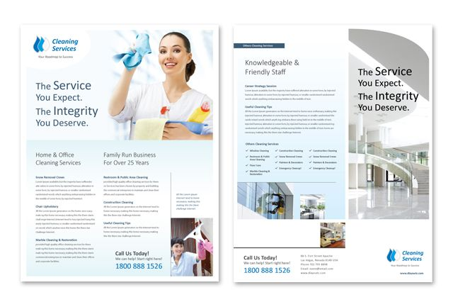 Cleaning  Janitorial Services Datasheet Template HttpWww