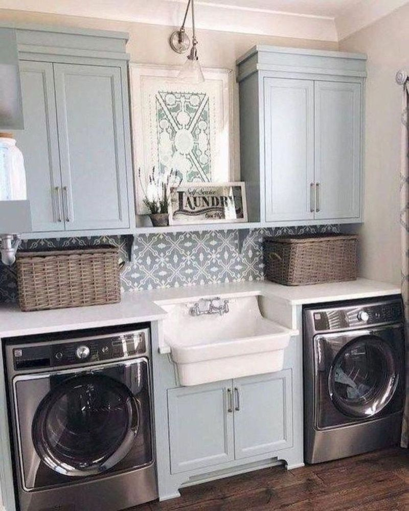 40 Best Laundry Room Organization Ideas With Farmhouse Style #organizedlaundryrooms 40 Best Laundry Room Organization Ideas With Farmhouse Style