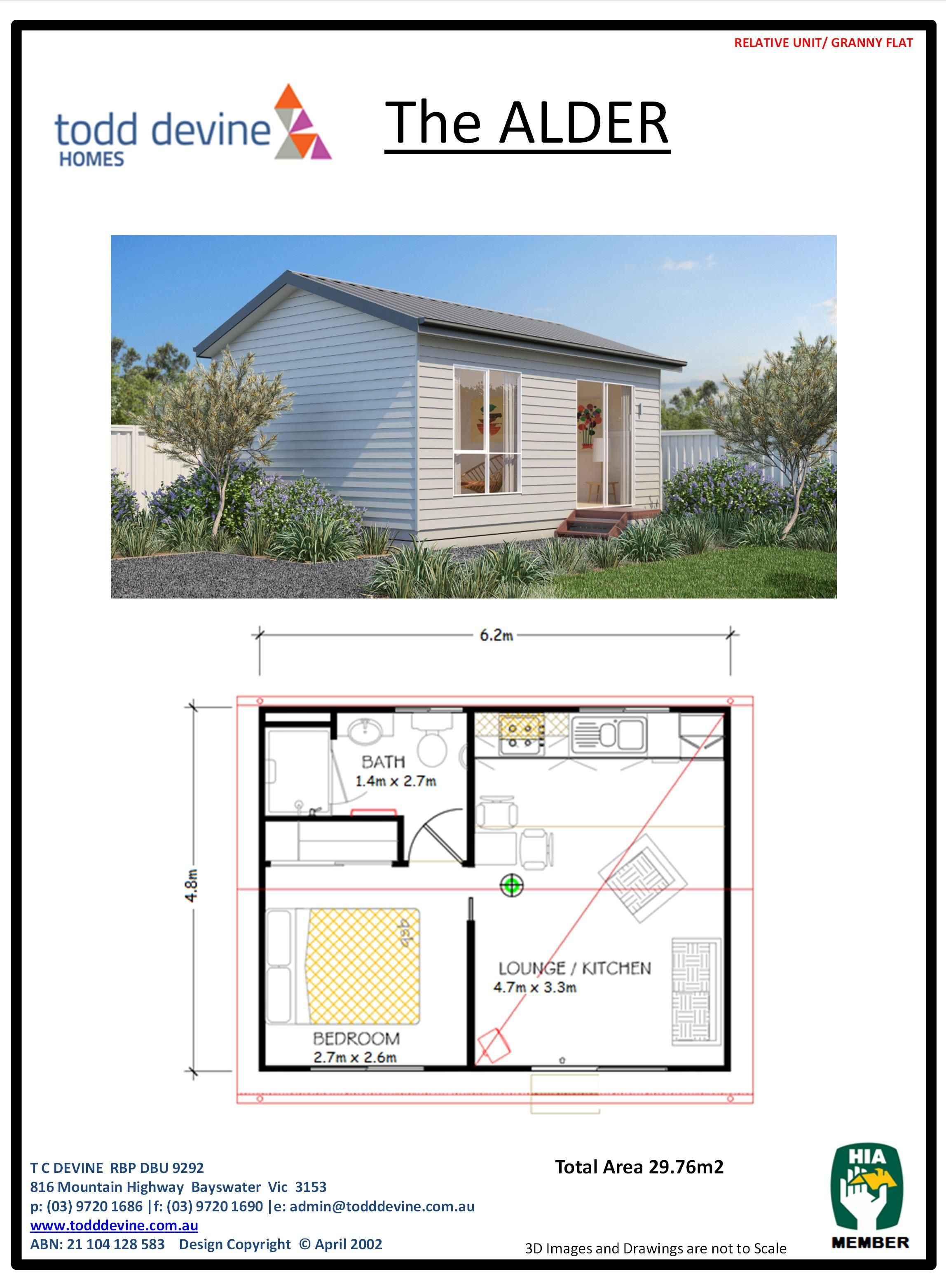 Todd Devine Homes Granny Flat Dpu The Alder Tiny House Cabin Tiny House Floor Plans Tiny House Plans