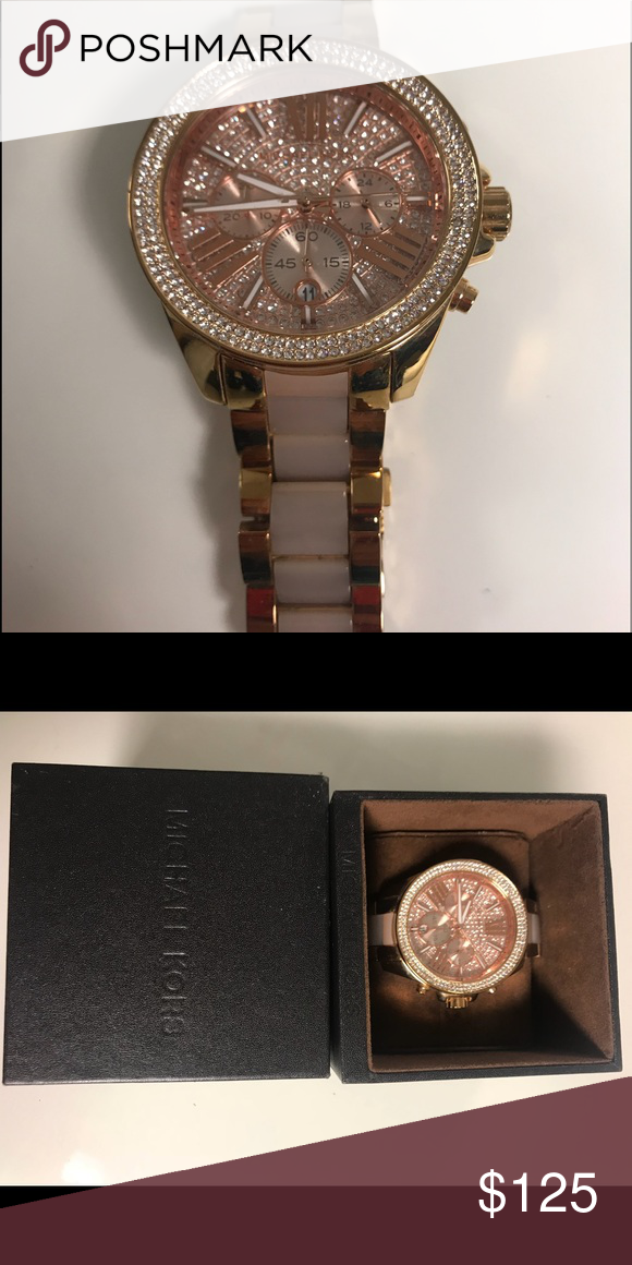 ef8a57f0746 Michael Kors Authentic Watch Used it a couple of times. A beautiful watch  but I tend to go tours more to my iwatch and stop using my MK watches  Michael Kors ...