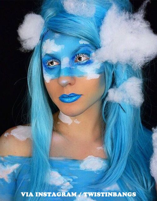 12 Halloween Makeup Looks For Blue Hair Blue Wig Halloween Blue Wigs Blue Hair Halloween