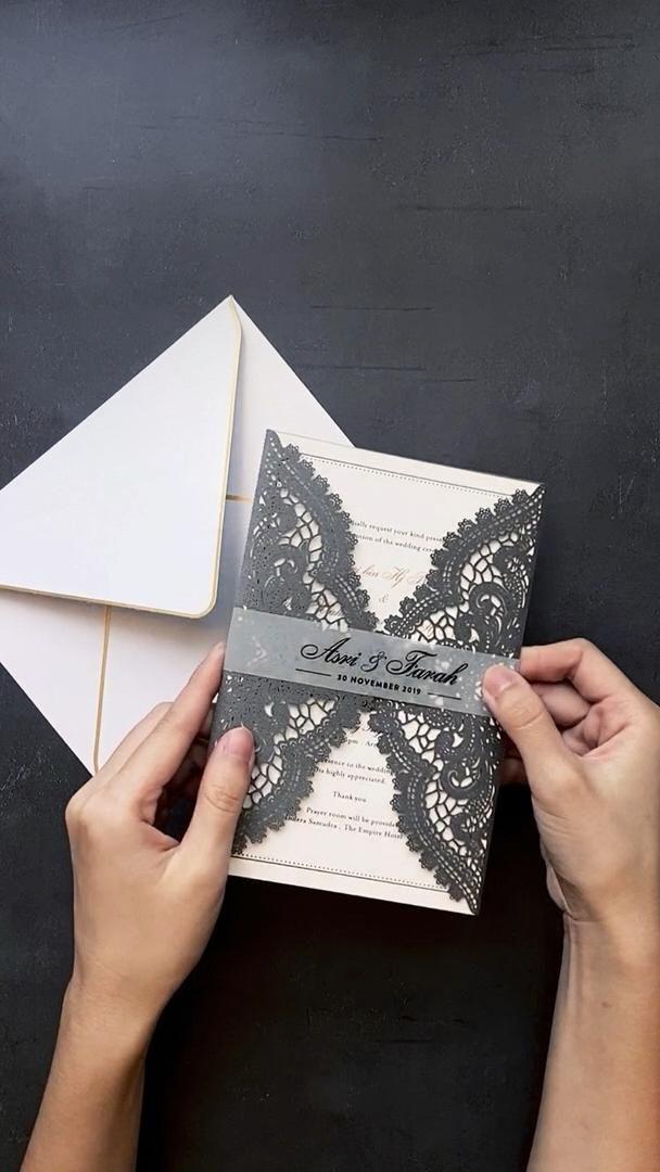 Luxury Lasercut Wedding Invitations Video In 2020 Wedding Invitation Envelopes Vintage Wedding Invitations Wedding Invitations Rustic