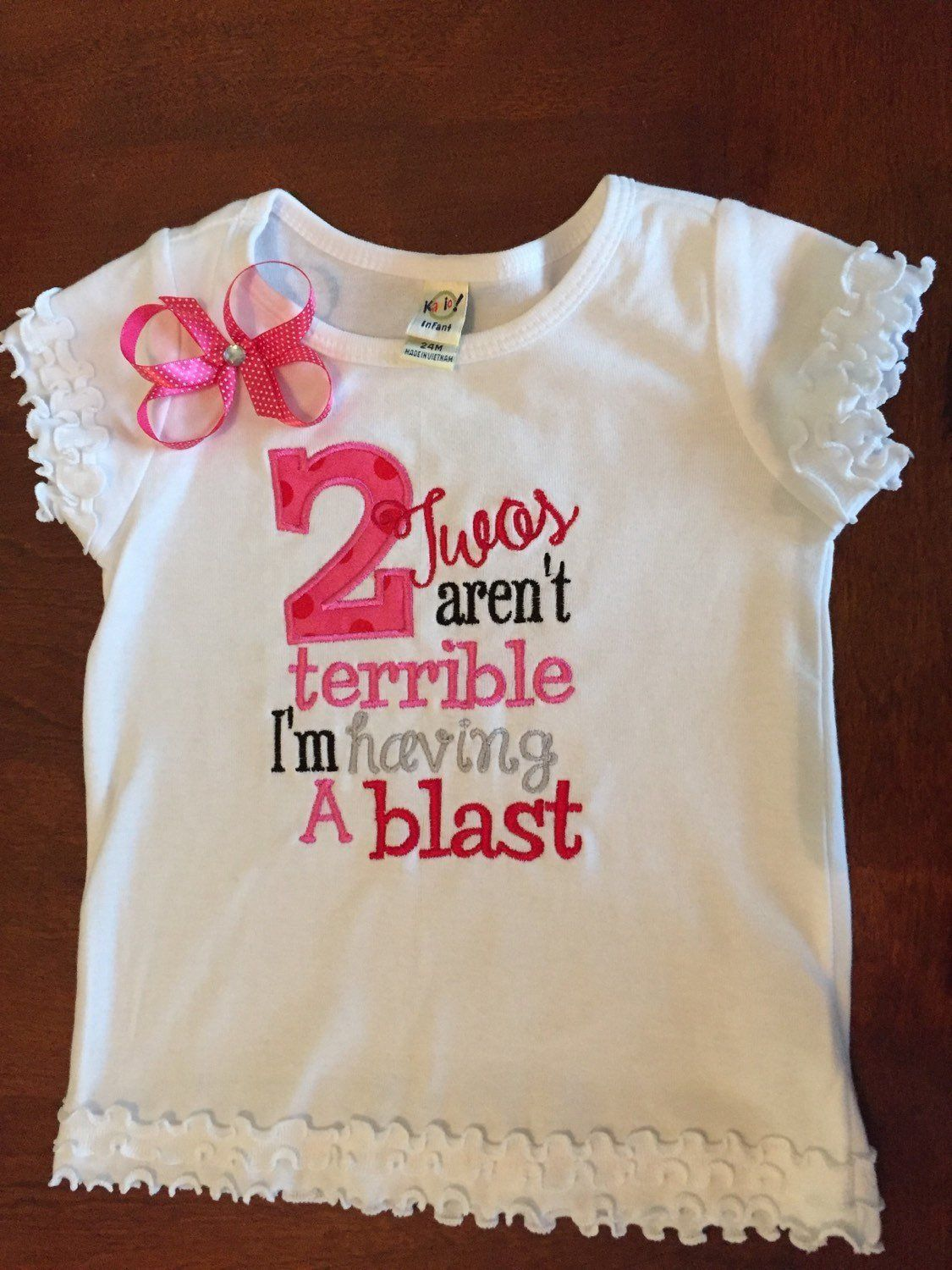 Girls Second birthday shirt / Terrible twos fun Birthday
