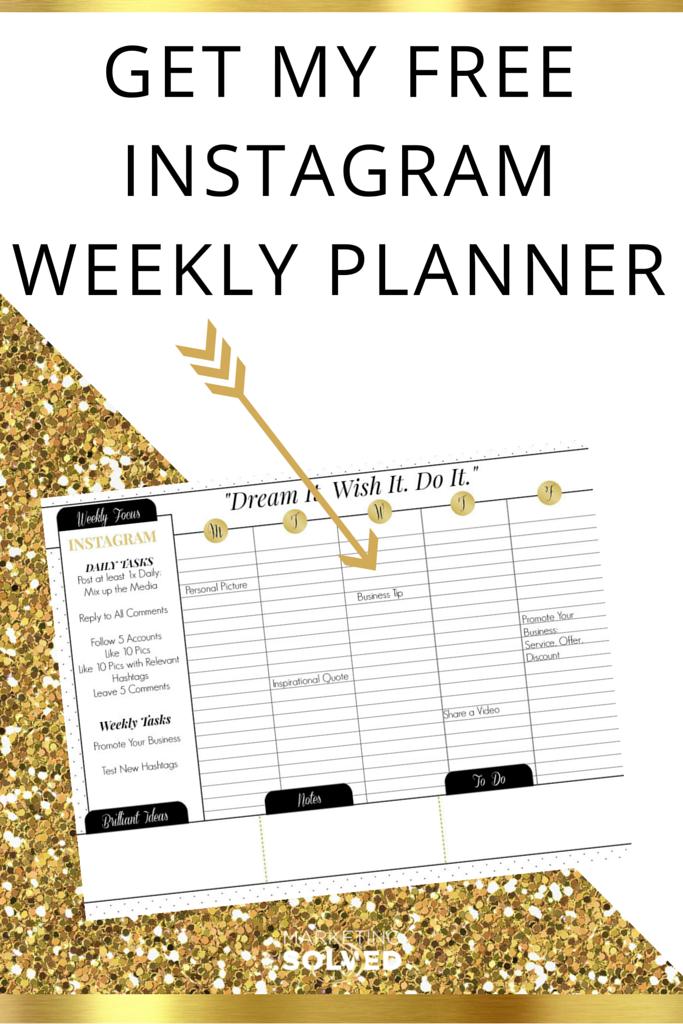 Instagram Weekly Planner Free Printable Calendar Social