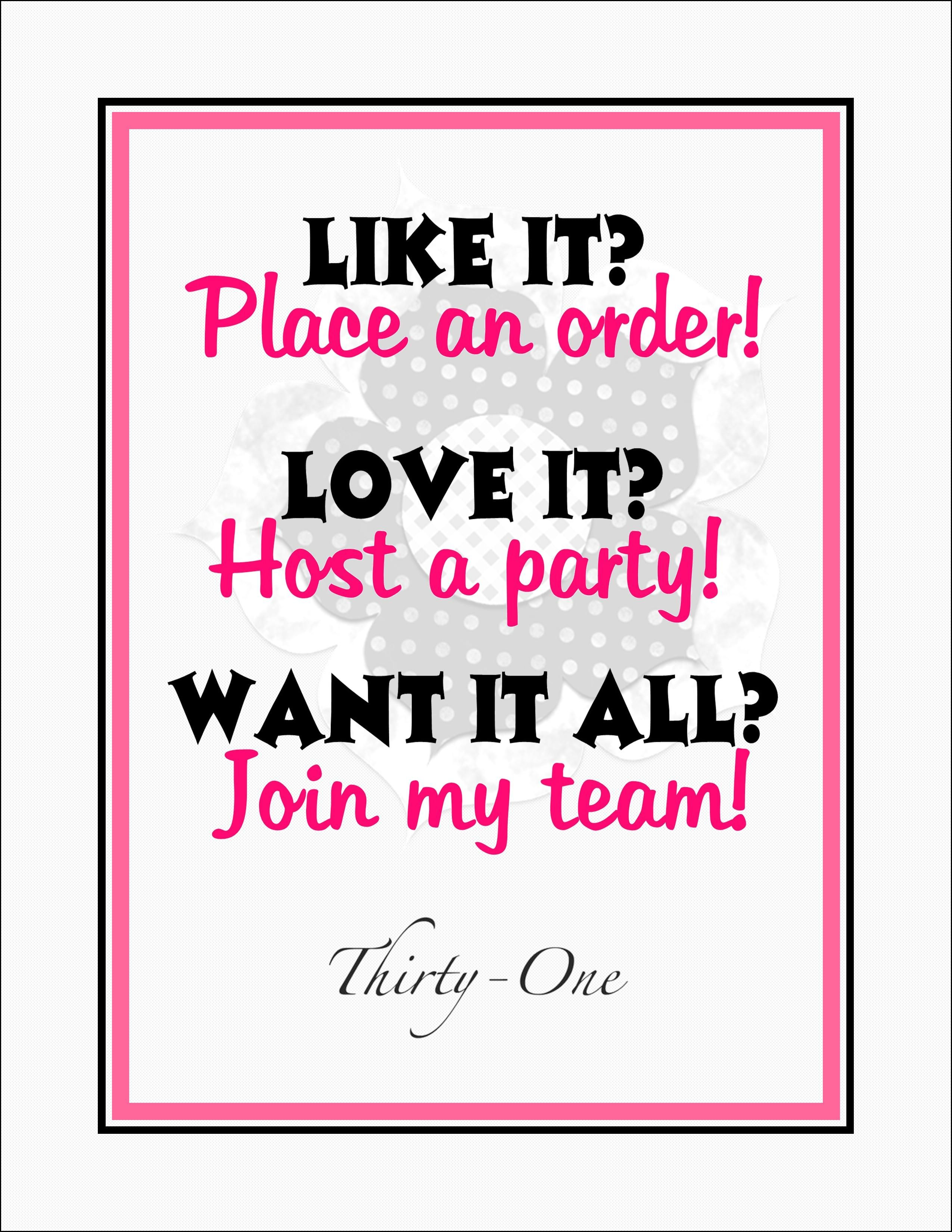 Join My Team Thirty one logo, Thirty one gifts, Thirty