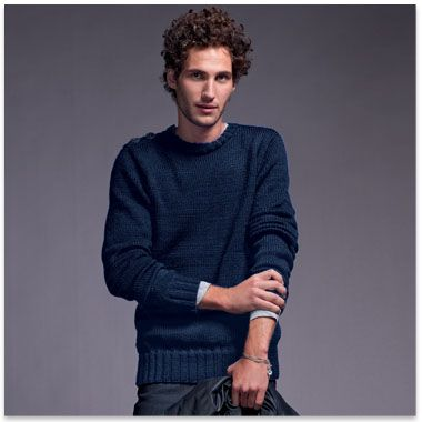 modele tricot pull homme facile