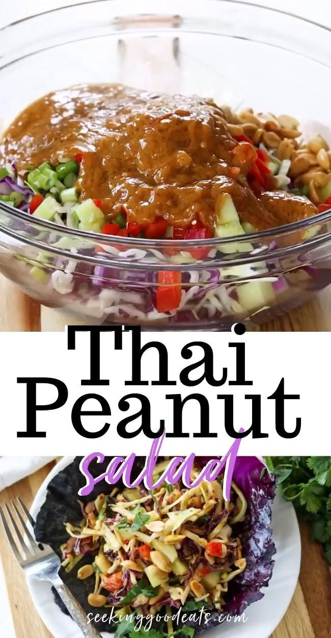 Thai Peanut Salad: Low Carb Keto Thai Recipe