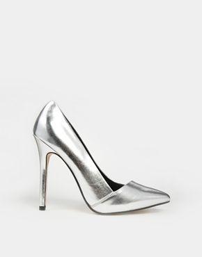 Chaussures argent pointues à talons hauts modèle modèle modèle Pensive ASOS 1ca3b8