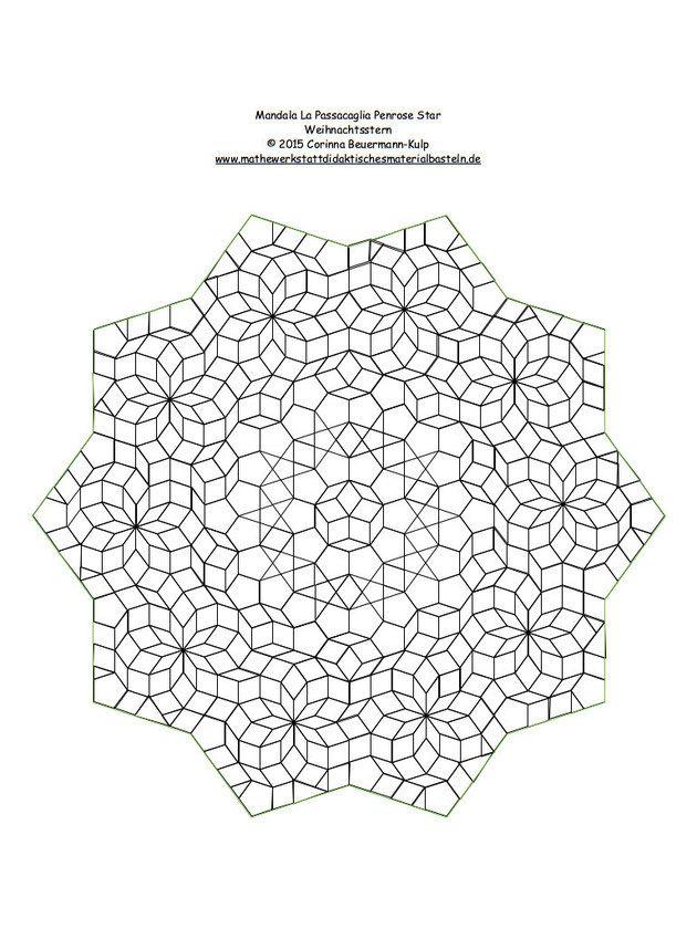 Mandala La Passacaglia Penrose Star Weihnachtsstern