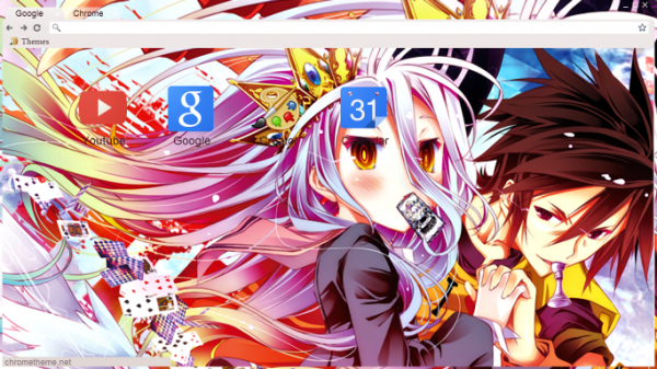 15 Awesome Anime Google Chrome Themes No Game No Life Anime Pictures