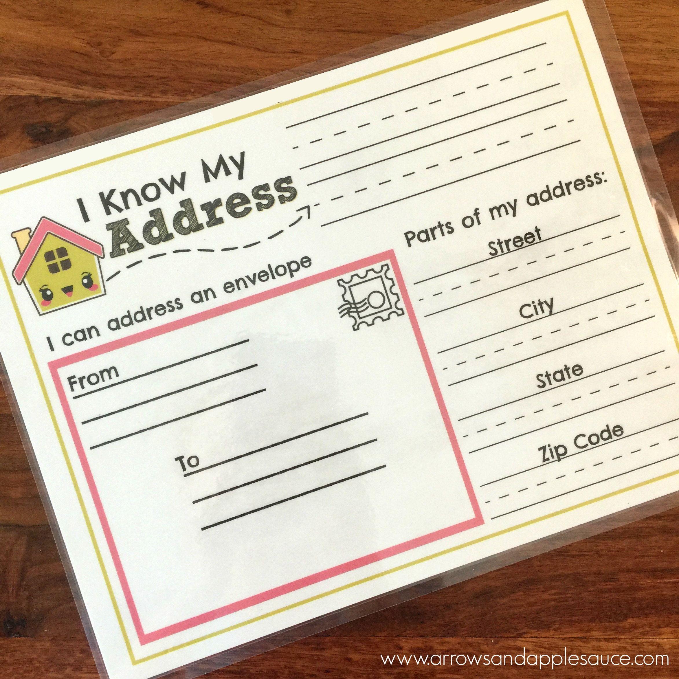 Address Kids Activity Address Practice Homeschool Printable Etsy Addressing Envelopes Educational Activities Homeschool [ 2346 x 2346 Pixel ]