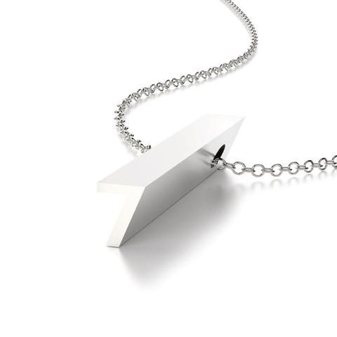 Hidden Message Necklace Number Seven Sterling Silver Charm Pendant