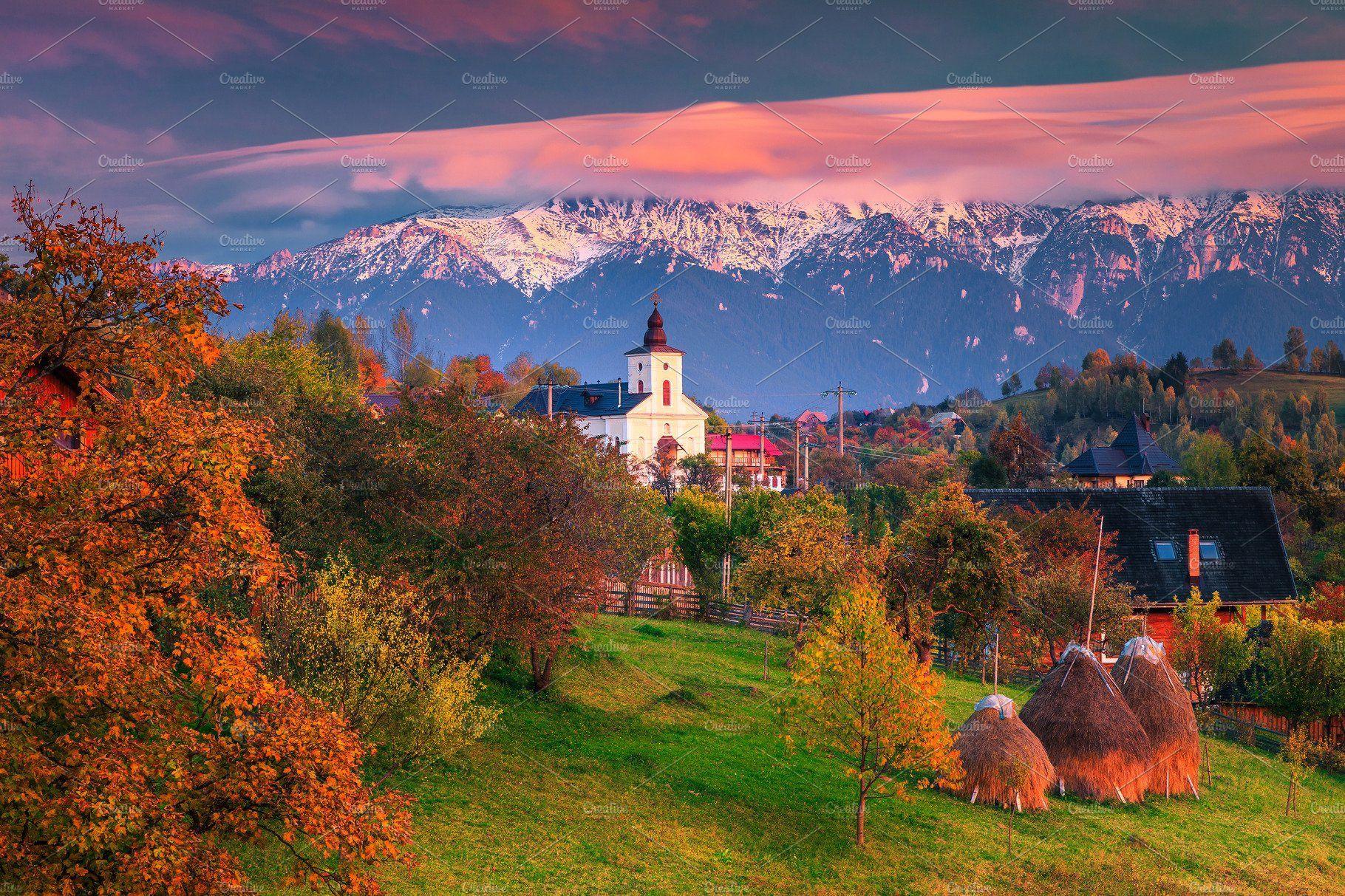 Colorful Autumn Alpine Landscape Landscape Photography Nature Alpine Village Landscaping Images