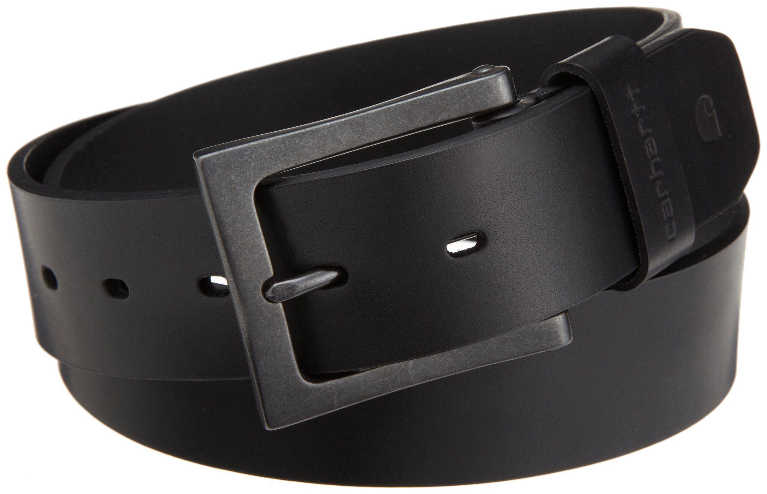 0b74e17156 Carhartt Men's Anvil Leather Belt at Amazon Men's Clothing store: Apparel  Belts