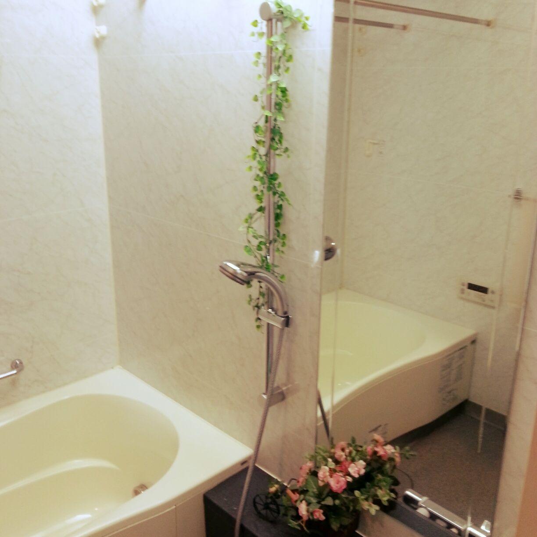 バス トイレ セリア ニトリフェイクグリーン 100均 フェイクグリーンの
