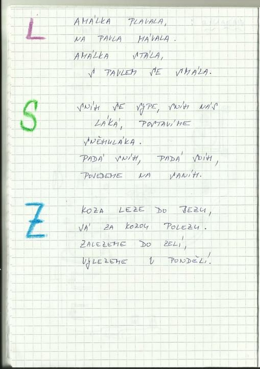 25466e062 Logopedie - oromotorika pro písmeno L - Album uživatelky sisstin - Foto 1 |  Modrykonik.