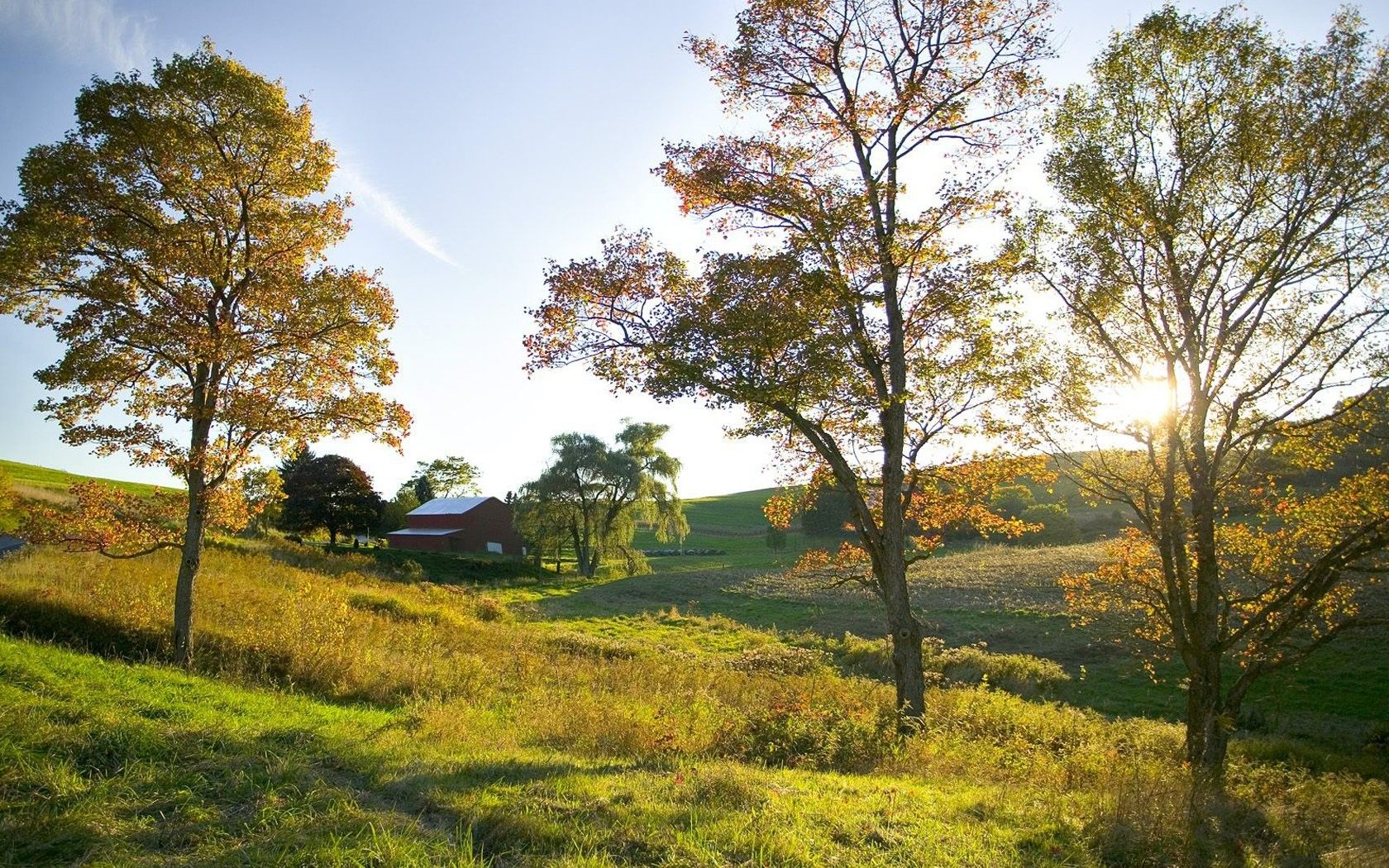 Farm Landscapes Download Wallpaper Landscapes Golden