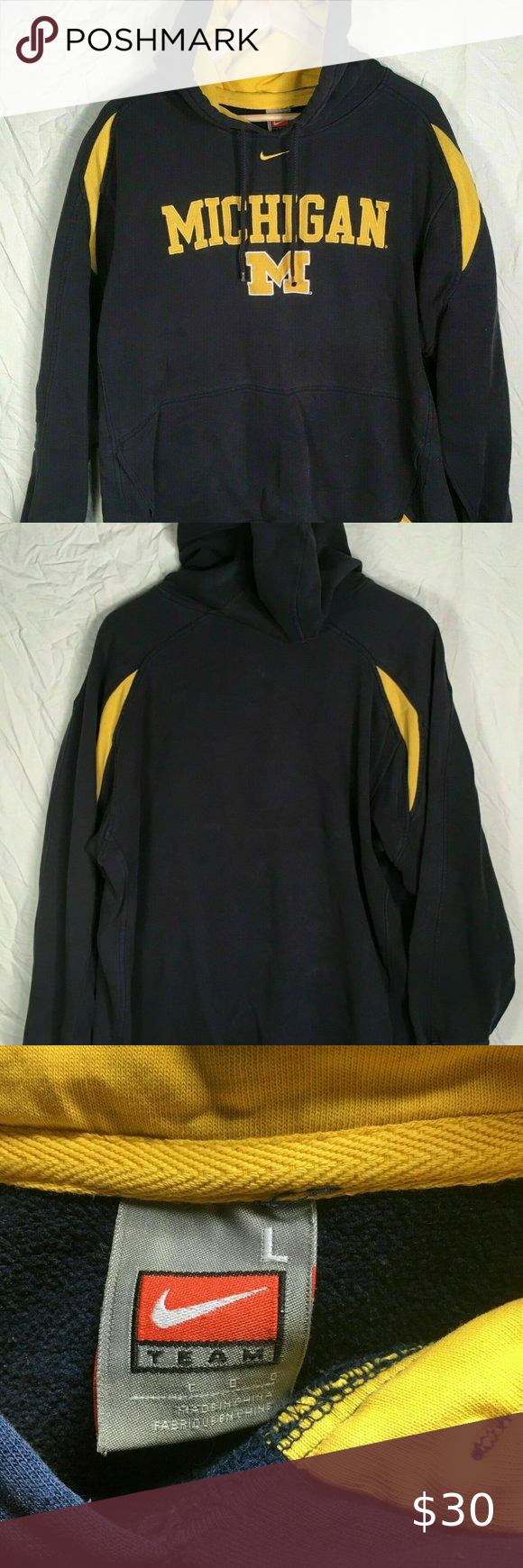 Team Nike Michigan Wolverines Hoodie Large Pre Owned Excellent Condition Size Large Smoke Free Home Team Nike Shir Sweatshirt Shirt Sweatshirts Hoodie Hoodies [ 1740 x 580 Pixel ]