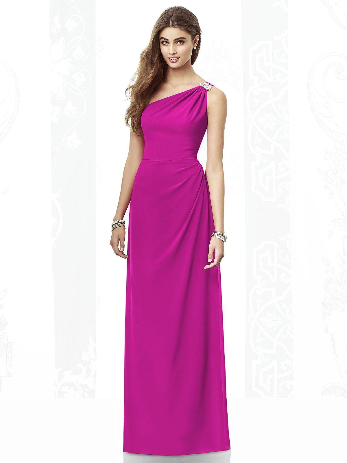 One shoulder bridesmaid dresses - great for adding a bit of va va ...
