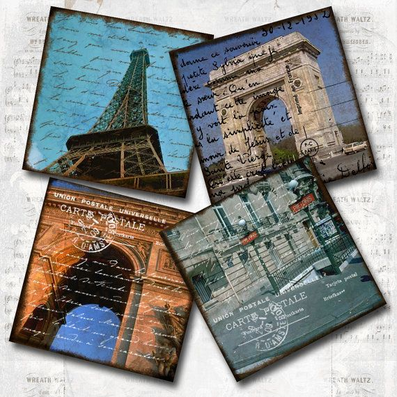 Paris Postcards - download & print