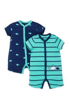 71105ecc830 Little Me 2-Pack Whale Romper - Blue - 9 Months