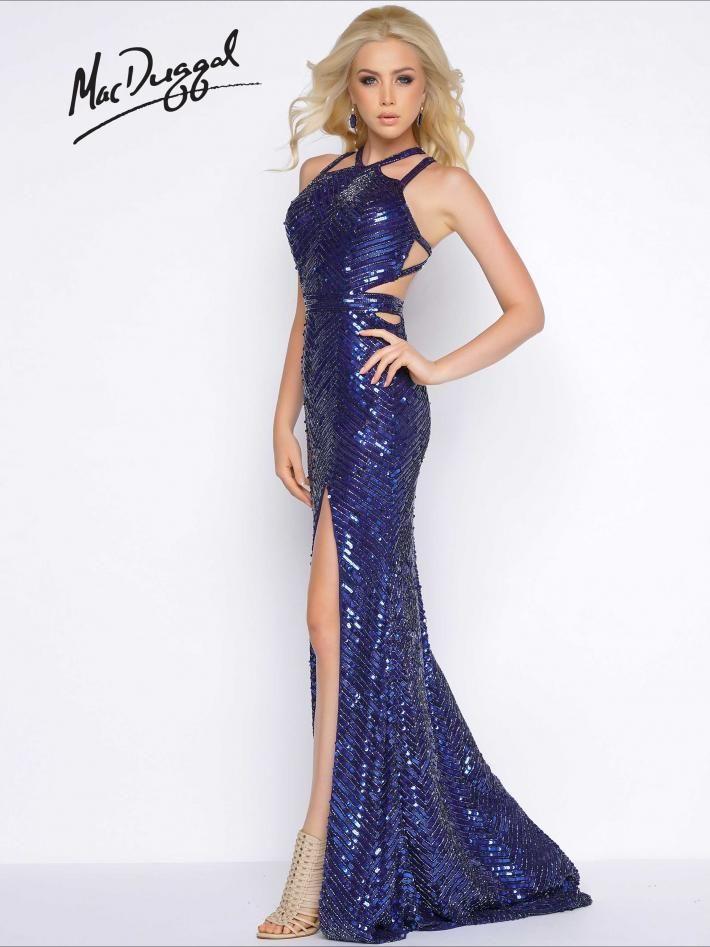 Sexy Midnight Blue Prom Dress Mac Duggal 4509a Cassandra Stone