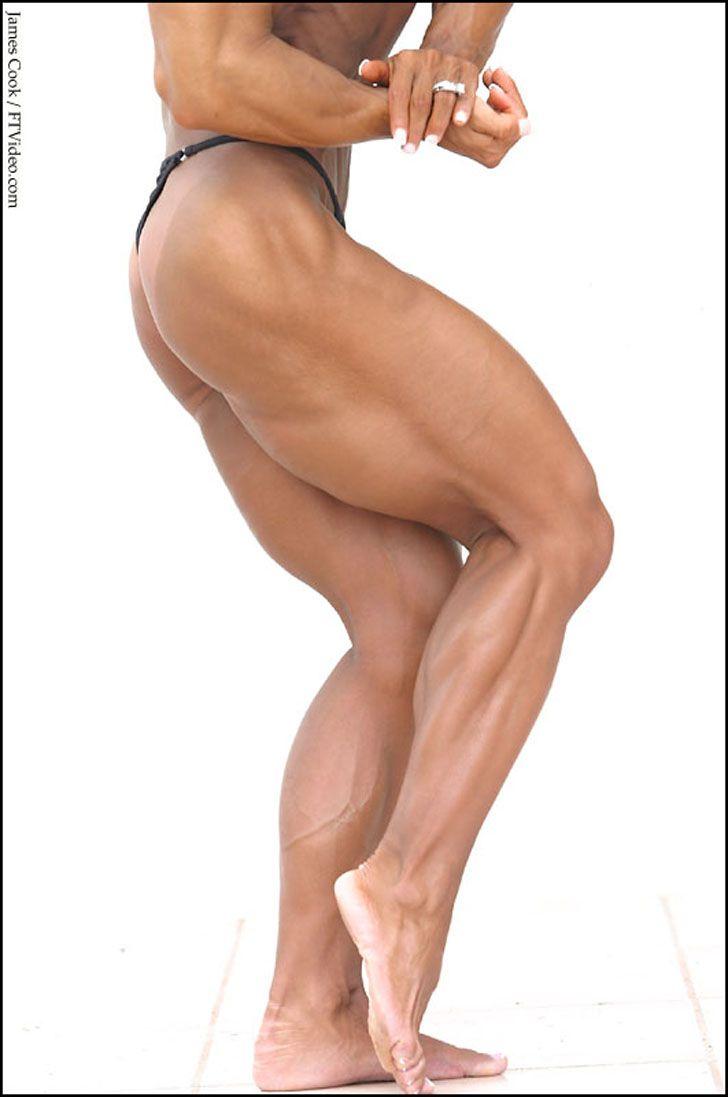 Female Bodybuilder Barbara Fletcher posing her amazing, muscular ...