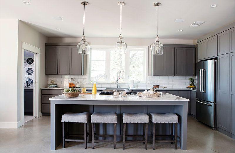 Best Modern Farmhouse Modern Glass Pendant Lights Counter 400 x 300