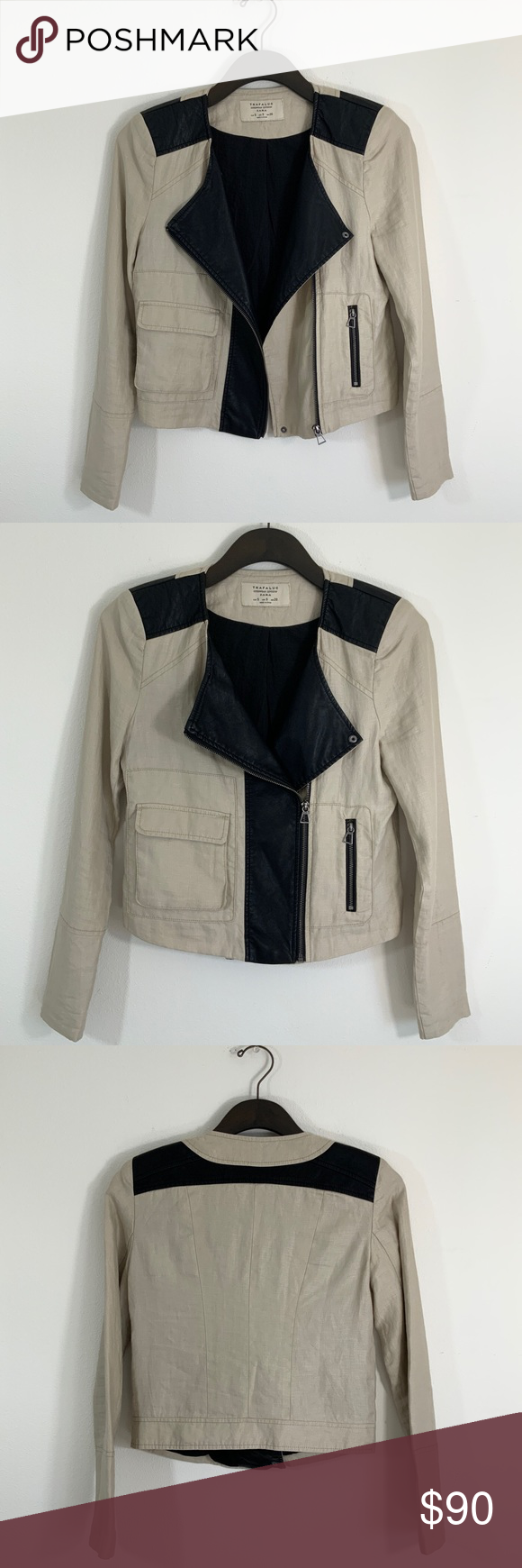 Zara Trafaluc Linen Faux Leather Moto Jacket Zara Features Trafaluc Outerwear Linen Faux Leather Moto Utility Leather Moto Jacket Faux Leather Moto Jacket Zara [ 1740 x 580 Pixel ]