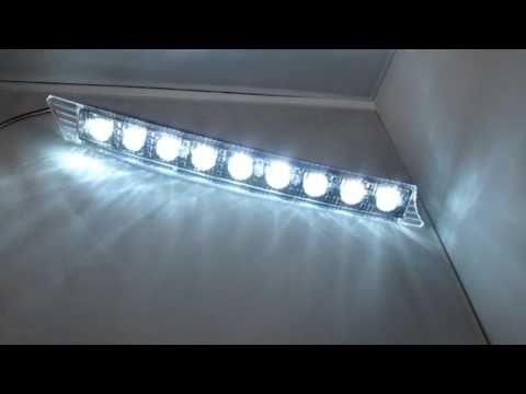 Audi A6 Style 9-LED Switchback Daytime Running Lights - YouTube