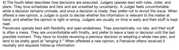 judgers vs perceivers