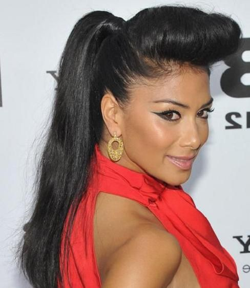 Nicole Scherzingers Pompadour Hairstyle Need Some Pump It Up