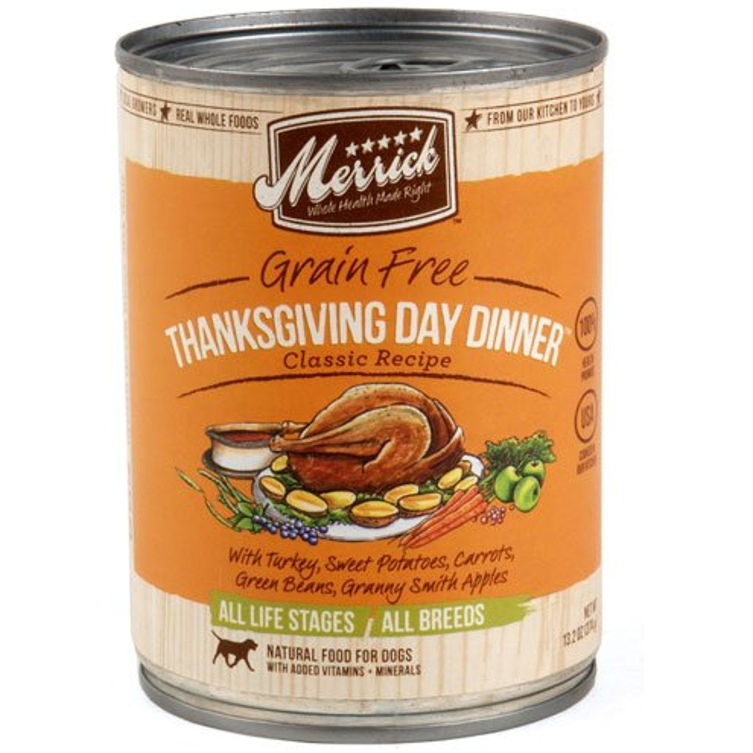 Merrick Pet Care 295539 12 13 2 Oz Thanksgiving Dinner Can Dog