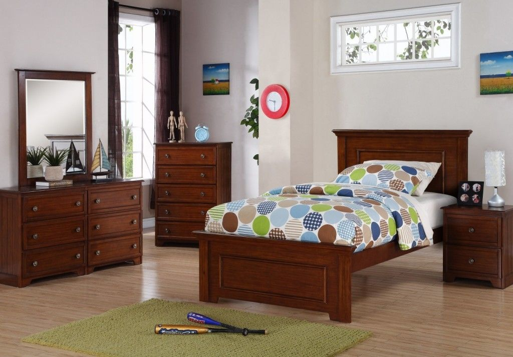 Harvest Brown Glaze Twin Bedroom Set  New Kid's Furniture Interesting Twin Bedroom Sets Decorating Inspiration
