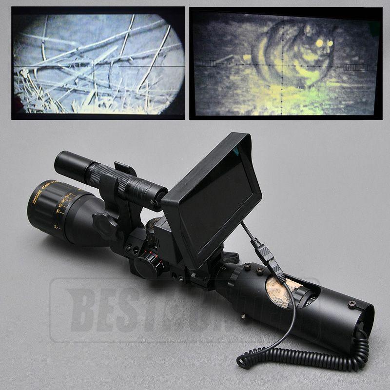 1a2c5ced5d64a Lunette de Vision nocturne En Plein Air Chasse Scopes Optique Sight  Tactique Numérique Infrarouge Avec Batterie Moniteur et lampe de Poche