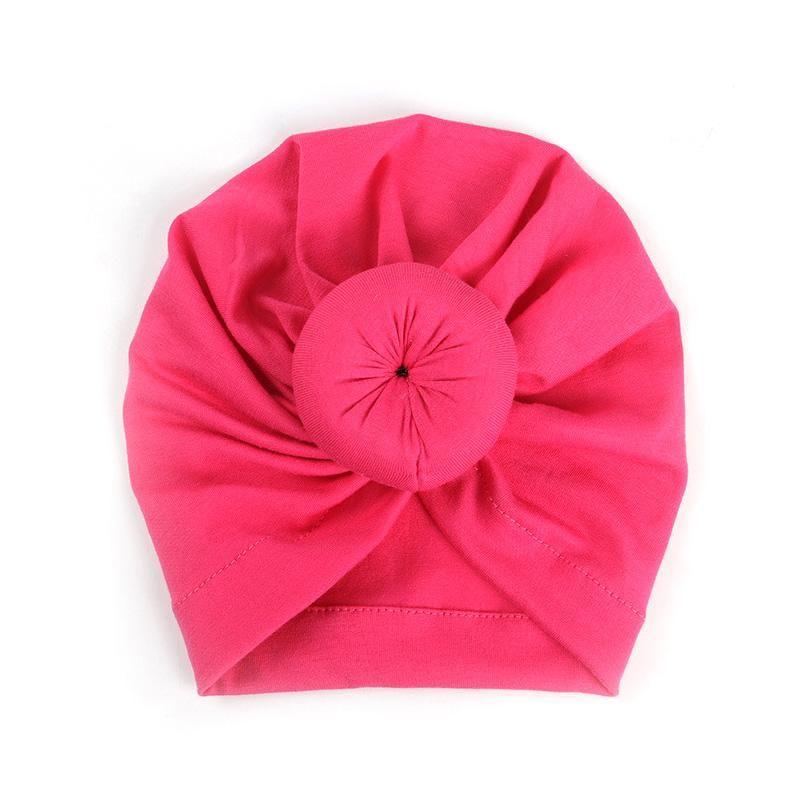 For Newborn Toddler Kid Baby Indian Turban Knot Velvet Beanie Hat Cap Unisex US