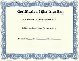Image Result For Certificate Of Participation Te Certificate Of