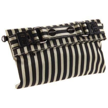 Sydney Love Stripe Collection Clutch,Khaki/Black,One Size $44.00 @Amazon