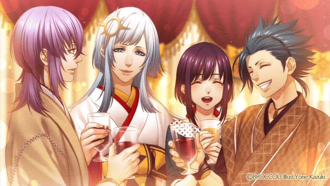 Tsukito, Akira, Yui et Takeru - Kamigami no asobi