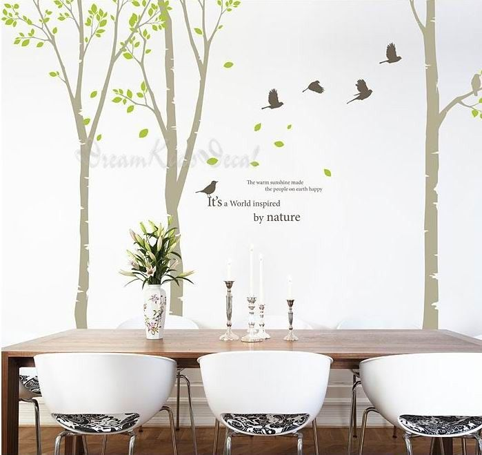 Birch Trees Decals Wall Decal Nature By Dreamkidsdecal 69 00