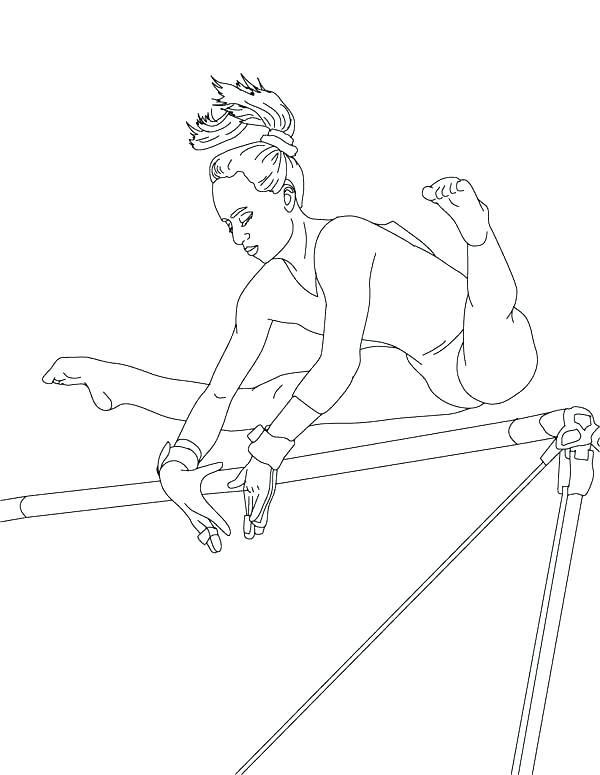 Balance Beam Artistic Gymnastics Coloring Page Zeichnen