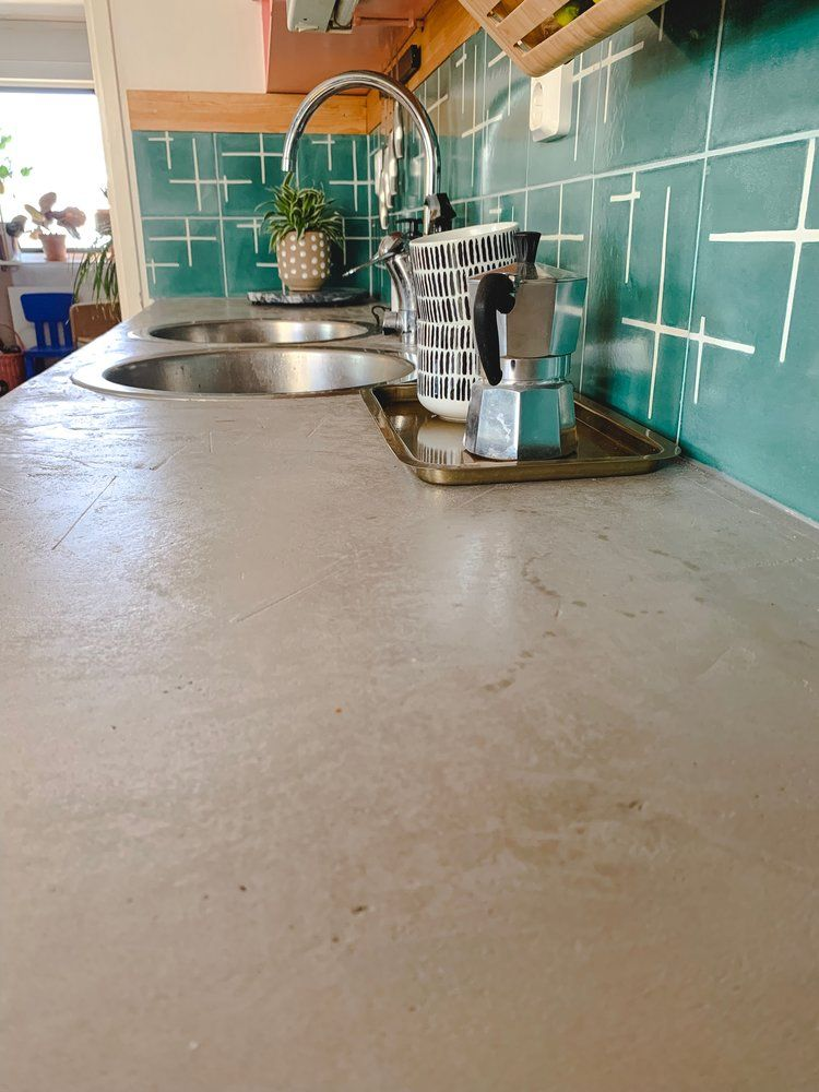 Diy Concrete Overlay Countertop With Vitrivius Transform Your