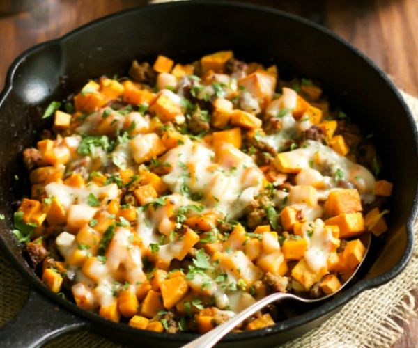 A Very Delicious Gluten Free Ground Turkey Sweet Potato Skillet Meal That Is Definitely Flavourful