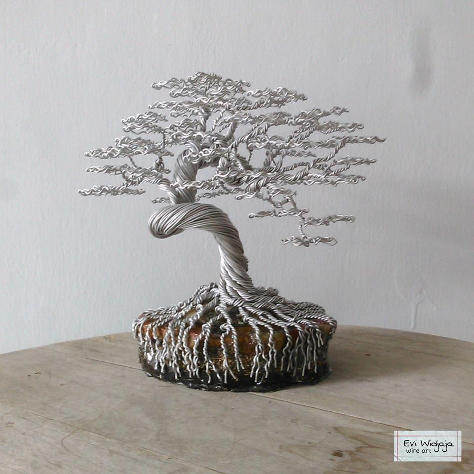 Pin von Sergey Nic auf Wire Bonsai | Pinterest | Baum, Draht und Deko
